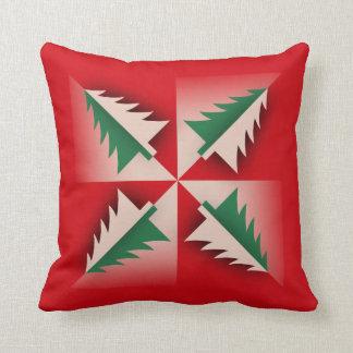 Vintage Christmas Tree Design Cushion
