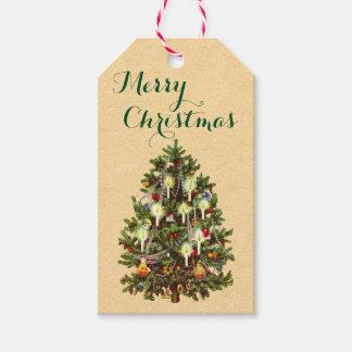 Vintage Christmas Tree Holiday Gift Tags
