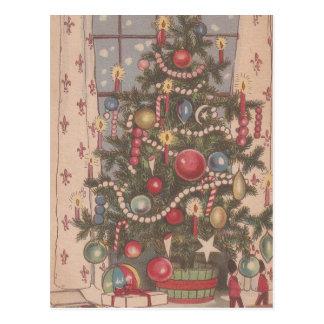 Vintage Christmas Tree Postcard
