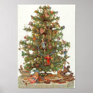 Vintage Christmas Tree Print