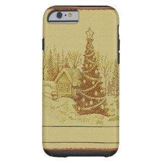 Vintage Christmas Tree Tough iPhone 6 Case