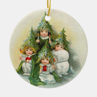 Vintage Christmas Trees Christmas Ornament