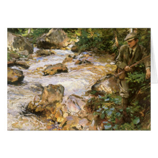 Vintage Christmas, Trout Stream by Sargent Greeting Card