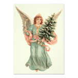 Vintage Christmas, Victorian Angel Christmas Party 13 Cm X 18 Cm Invitation Card