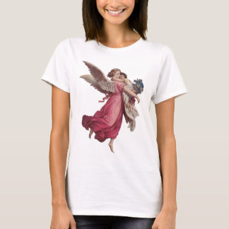 Vintage Christmas, Victorian Angel Holding a Child T-Shirt