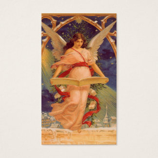 Vintage Christmas, Victorian Angel Reading Bible