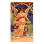 Vintage Christmas, Victorian Angel Reading Bible Business Card Templates