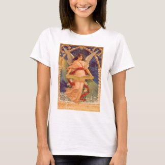 Vintage Christmas, Victorian Angel Reading Bible T-Shirt