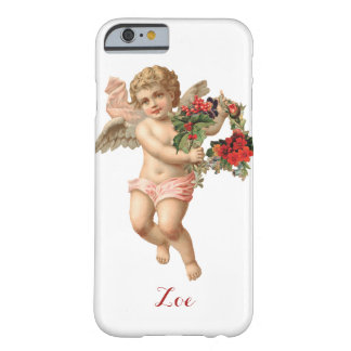 Vintage Christmas, Victorian Angel w Floral Wreath Barely There iPhone 6 Case