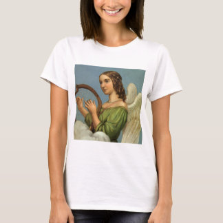 Vintage Christmas, Victorian Angel with Music Harp T-Shirt