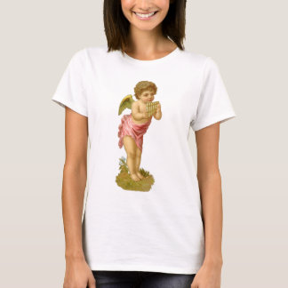 Vintage Christmas, Victorian Angel with Pan Pipes T-Shirt