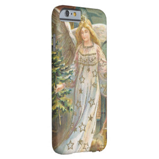 Vintage Christmas Victorian Angel with Tree Barely There iPhone 6 Case