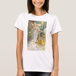 Vintage Christmas Victorian Angel with Tree T-Shirt