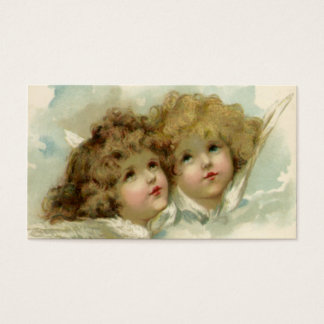 Vintage Christmas, Victorian Angels in the Clouds