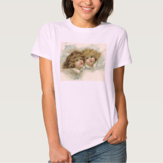 Vintage Christmas, Victorian Angels in the Clouds T-shirts