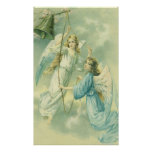 Vintage Christmas, Victorian Angels with a Bell Poster
