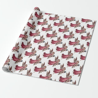 Vintage Christmas, Victorian Guardian Angel Wrapping Paper