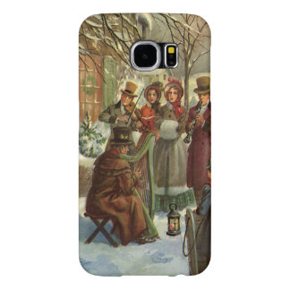 Vintage Christmas, Victorian Musicians Play Music Samsung Galaxy S6 Cases