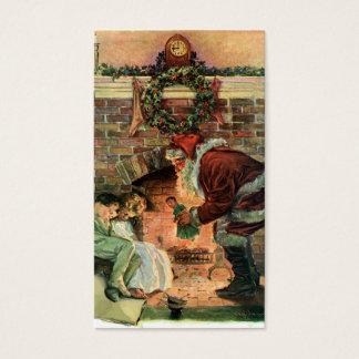 Vintage Christmas, Victorian Santa Claus Children