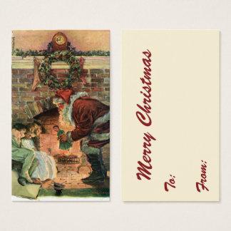Vintage Christmas, Victorian Santa Claus Children Business Card