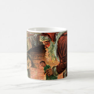 Vintage Christmas, Victorian Santa Claus Children Coffee Mug