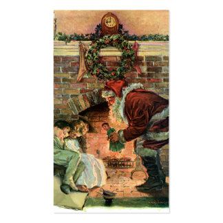 Vintage Christmas, Victorian Santa Claus Children Pack Of Standard Business Cards