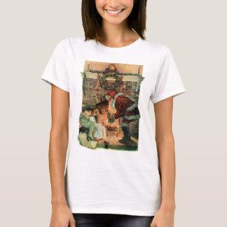 Vintage Christmas, Victorian Santa Claus Children T-Shirt