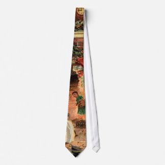Vintage Christmas, Victorian Santa Claus Children Tie