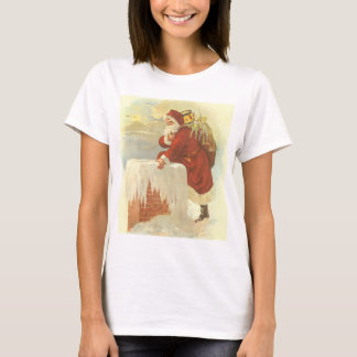 Vintage Christmas, Victorian Santa Claus Chimney T-Shirt
