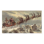 Vintage Christmas, Victorian Santa Claus in Sleigh Pack Of Standard Business Cards