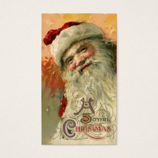 Vintage Christmas, Victorian Santa Claus Portrait