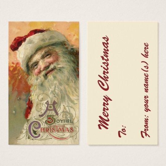 Vintage Christmas, Victorian Santa Claus Portrait Business Card
