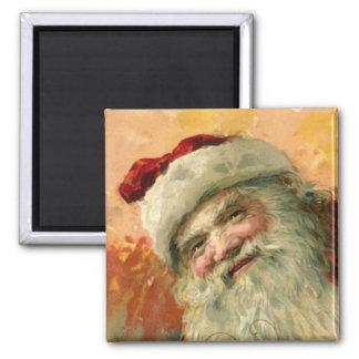 Vintage Christmas, Victorian Santa Claus Portrait Magnet