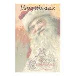 Vintage Christmas, Victorian Santa Claus Portrait Stationery