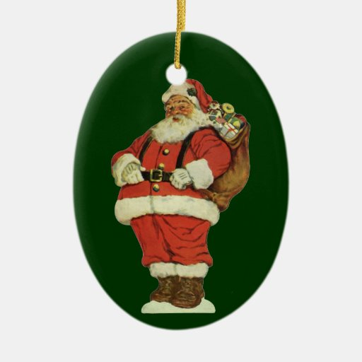 Victorian Father Christmas Decorations: Vintage Christmas, Victorian Santa Claus Toys Ornaments