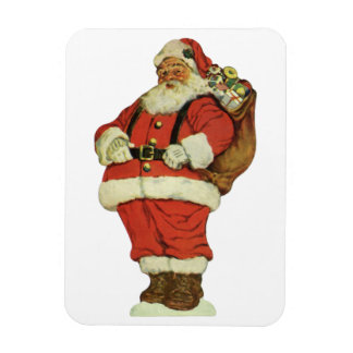 Vintage Christmas Victorian Santa Claus Toys Rectangular Magnets