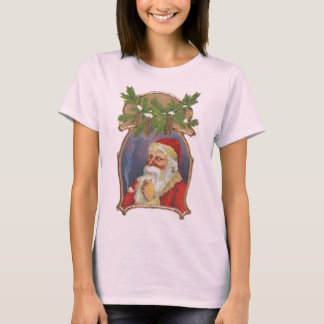 Vintage Christmas, Victorian Santa Claus with Pipe T-Shirt