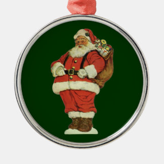 Vintage Christmas, Victorian Santa Claus with Toys Christmas Ornament