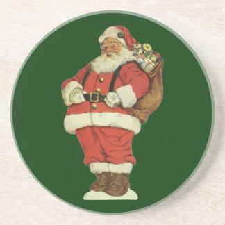 Vintage Christmas, Victorian Santa Claus with Toys Coaster