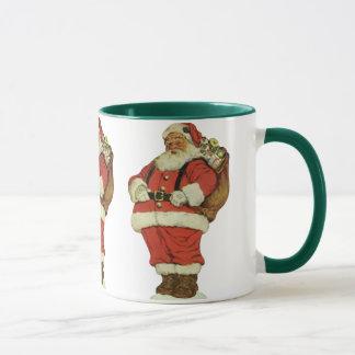 Vintage Christmas, Victorian Santa Claus with Toys Mug