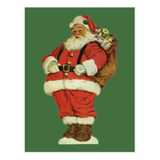 Vintage Christmas, Victorian Santa Claus with Toys Postcard