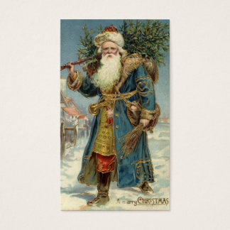 Vintage Christmas, Victorian Santa Claus with Tree