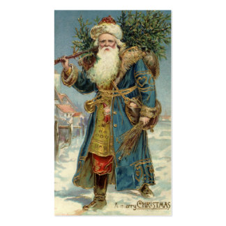 Vintage Christmas, Victorian Santa Claus with Tree Pack Of Standard Business Cards