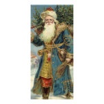 Vintage Christmas, Victorian Santa Claus with Tree Personalised Rack Card