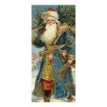 Vintage Christmas, Victorian Santa Claus with Tree Personalised Rack Card