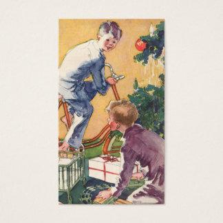 Vintage Christmas, Vintage Children with Presents