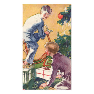Vintage Christmas, Vintage Children with Presents Pack Of Standard Business Cards