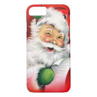 Vintage Christmas Winking Santa iPhone 8/7 Case