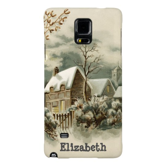 Vintage Christmas Winter Country Custom Note 4 Galaxy Note 4 Case