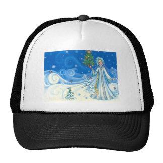 Vintage Christmas, winter scenes Hats